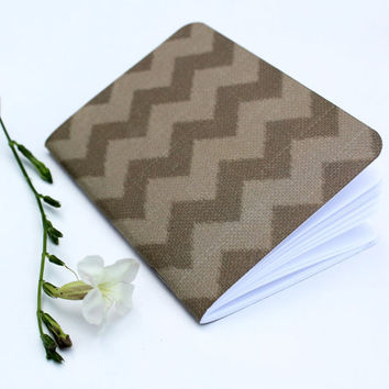 Brown Burlap Texture Chevron Stripes Traveler's Notebook Journal Stationary Planner Insert Blank Pages Sketchbook