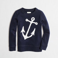 Factory girls' sequin anchor sweatshirt - Girls -Girls - J.Crew Factory