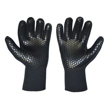 Black Men Women Diving Gloves 5mm Neoprene Scuba Wetsuit Glove For Underwater Hunting Spear fishing Swimming