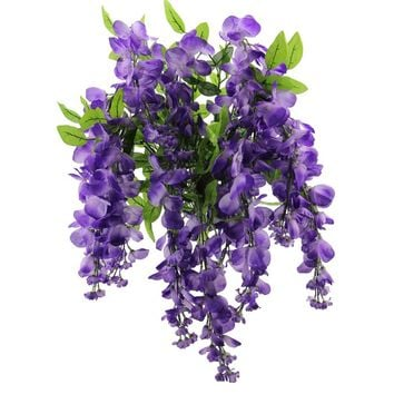 15 Stems Wisterria Long Hanging Flower Bush