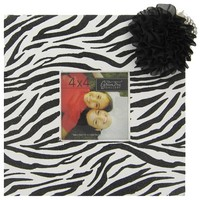 "4"" x 4"" Zebra Print Photo Frame 