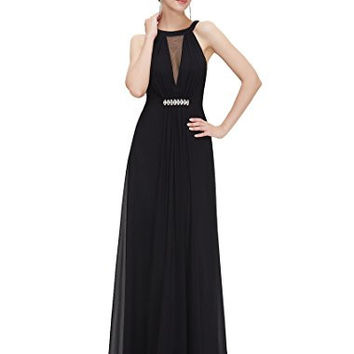 Ever Pretty Sleeveless Rhinestones Ruched Waist Formal Evening Party Dress 09995