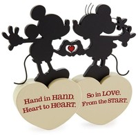 Disney Hallmark Mickey and Minnie So In Love Silhouette Figurine New