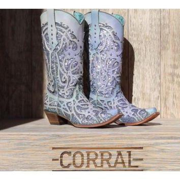 Corral C3377 CHAMELEON COLOR CHANGING BOOTS