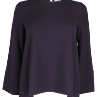 Boxy Blouse Navy Blue