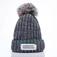 Stylish  Knitting Hat Winter Warm Pointy Hat Beanie Lady Apparel Accessories 6 Colors AL M45