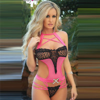 Cute On Sale Hot Deal Stylish Sexy Lace Transparent Set Exotic Lingerie [6596520451]