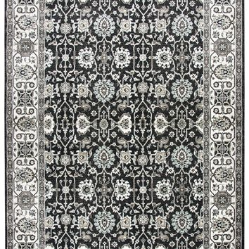 Rizzy Home Zenith ZH7092 Black Motif Area Rug