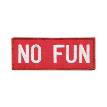 No Fun Patch - Red