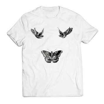 One Direction Harry Style Tattoo Actrees Clothing T shirt Men