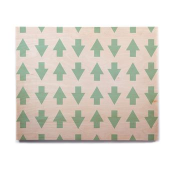 "Project M ""Arrows Up and Down Mint"" Birchwood Wall Art"