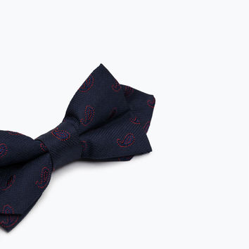 POINTED PAISLEY BOW TIE