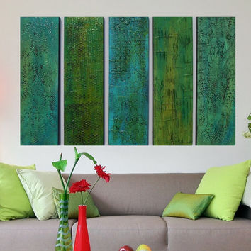 Wood Wall Art -  Unique Textured Acrylic Paintings - Original Paintings - Large Modern Painting - Large Modern Art  -  Abstract Paintings