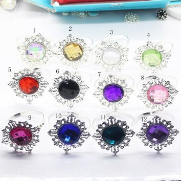 Hot sale acryl napkin Ring 12pcs/Lot  Romantic Wedding Banquet dining table accessories