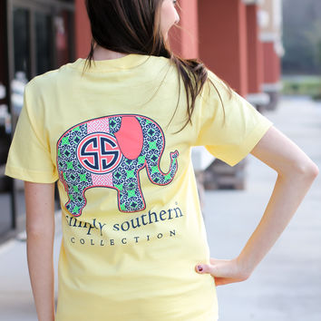 97dc0063576d Simply Southern Tee - Elephant from A Cut Above Boutique