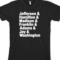 Founding Fathers-Unisex Black T-Shirt
