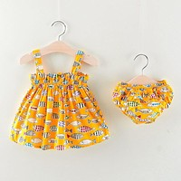 Baby Girls Strap Dress Sets