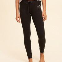 Girls High-Rise Fleece Leggings | Girls Bottoms | HollisterCo.com