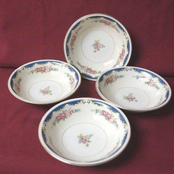 Vintage Homer Laughlin, China Dinnerware Eggshell Naut, #N1474 Set 4 sauce Bowl