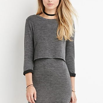 Layered Vented-Back Dress