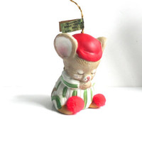 Praying Christmas Mouse Ornament Bell Lil Chimers