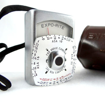 Vintage Expo-Rite NE-2 Exposure Meter for Movie Cameras from 1950s