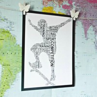 Skateboarder Personalised A4 Print