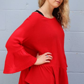 Franci Shirt - Radish Red by Bryn Walker
