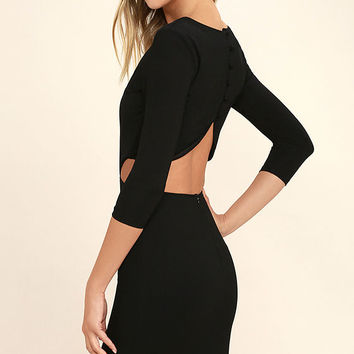 Shape of You Black Bodycon Dress