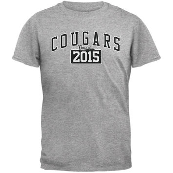 Graduation - Cougars Class of 2015 Heather Grey Adult T-Shirt