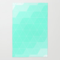 Mint Triangle Rug by Beautiful Homes