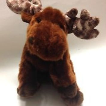 """Ty Melvin the Moose Classic Plush 12"""" 2002 Antlers Stuffed Animal Toy"""