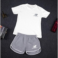 Casual Summer Korean Sports Short Sleeve Shorts Sportswear Set [11923118547]
