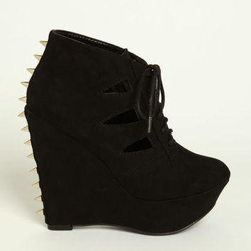 SPIKED CUT OUT WEDGES