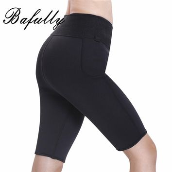 Bodybuilding Fitness Abdomen Control Panties Breeches Neoprene Burn Thermo Waist Slimming Pants Tight Sauna Sweat Legging Capris