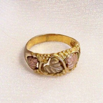 Vintage Black Hills Gold Ring: Ladies' Ring, Size 6 3/4 - A2004