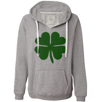 Ladies Shamrock Hooded Sweatshirt