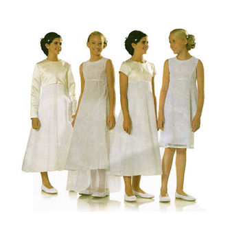 FIRST HOLY COMMUNION Dress Pattern Girls First Communion Formal Dress Pattern Burda 9654 Size 8 9 10 11 12 13 14 UNCuT Girls Sewing Patterns