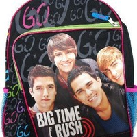 "Big Time Rush Large Backpack 16"" School Backpack - For Age 9+"