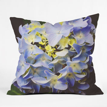 Allyson Johnson Hydrangea Flower Outdoor Throw Pillow