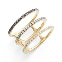 EF COLLECTION Diamond Stack Ring | Nordstrom