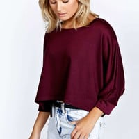 India Batwing Oversized Crop Sweat