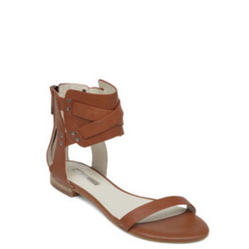 BRAYLIN FLAT ANKLE SANDAL in Brown - BCBGeneration