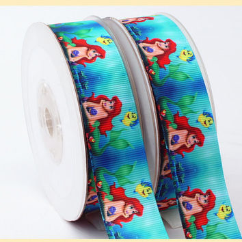 Disney Princess Ariel  Printed Grosgrain Sewing Craft Ribbon