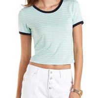 Combo Striped Ringer Tee by Charlotte Russe