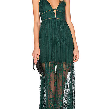 X by NBD Stella Dress in Hunter Green