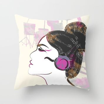 Music Overdose Throw Pillow by Famenxt | Society6