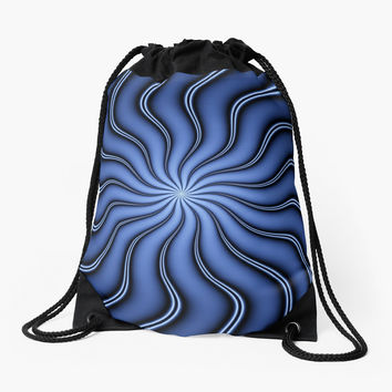 'Blue Energy Fractal Art' Rucksackbeutel by gabiwArt