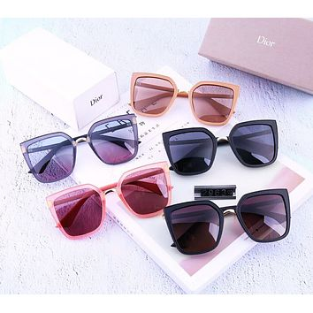 Dior 2019 new women's matte texture driving polarized color film sunglasses