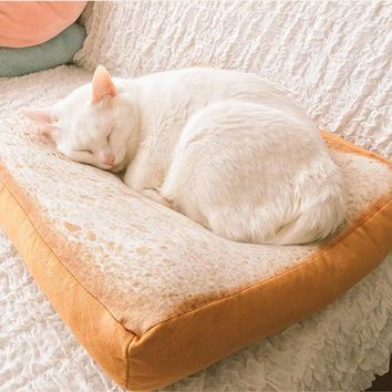 pet products Cat House Toast bed Cushion Sofa Home Soft Warm Mat Sleeper Pad Washable Pet Supplies Kittens gatos pet ferret bed